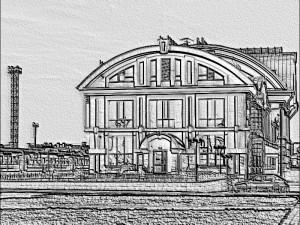 барельеф здания