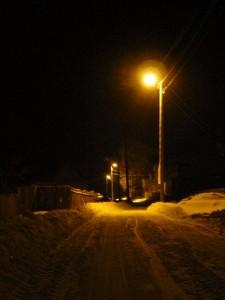 зимняя деревня - неудачное фото